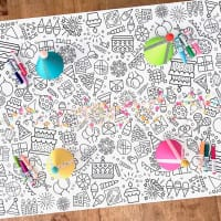 Huge Holiday Coloring Table Banners