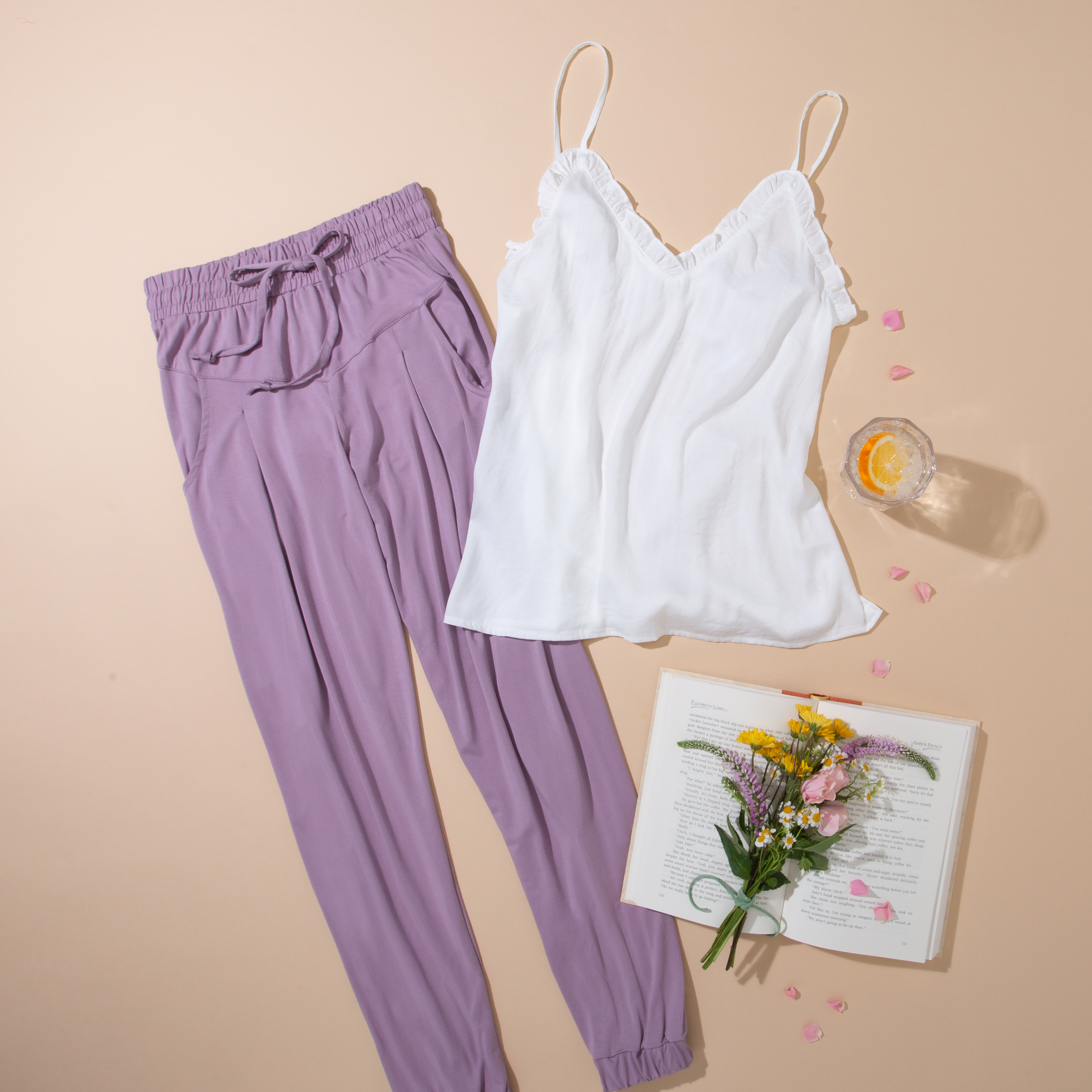Woman's Summer Loungewear Outfit