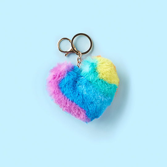 Rainbow Heart Keychain