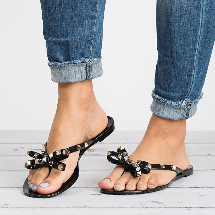 Bow Jelly Jelly Sandals Studded Studded Bow Sandals Valencia Valencia Valencia 5j3L4ARq