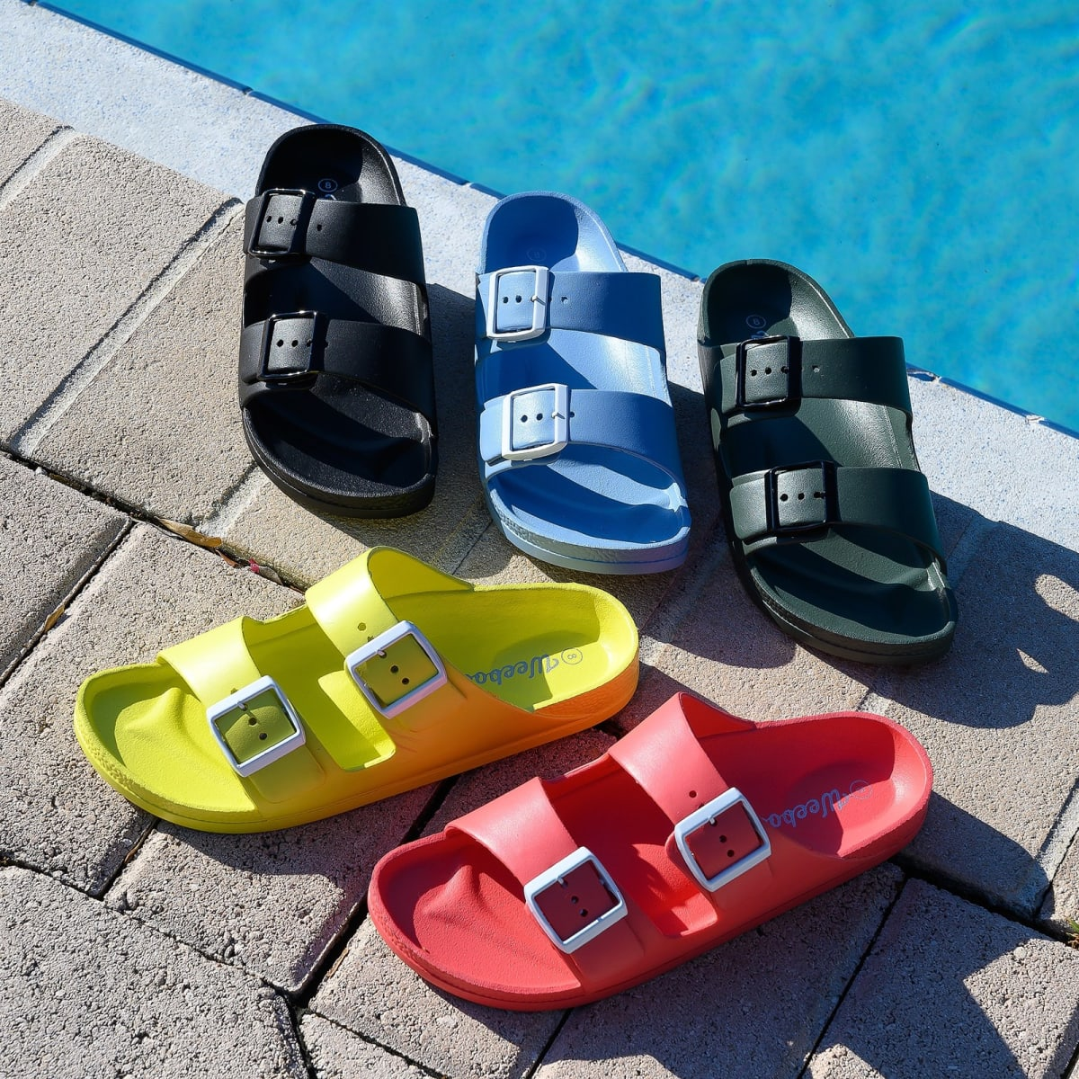 Jelly Buckle Buckle Sandals Colorful Colorful Colorful Jelly Double Double Sandals ZuPkiX