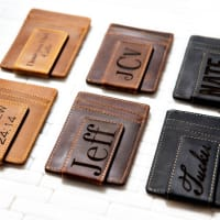 Personalized Custom Leather Money Clip (3 color options)