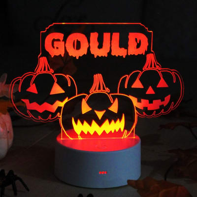 Personalized Halloween Night Lights