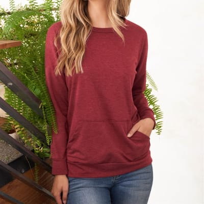 French Terry Pocket Pullover (S-3X)