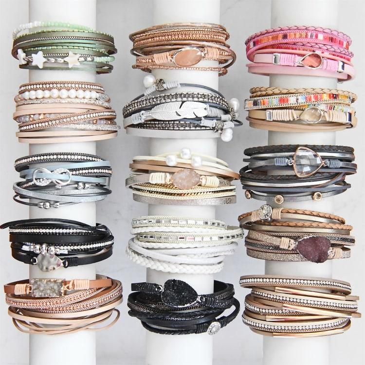 Multi-Strand Wrap Bracelets | Jane
