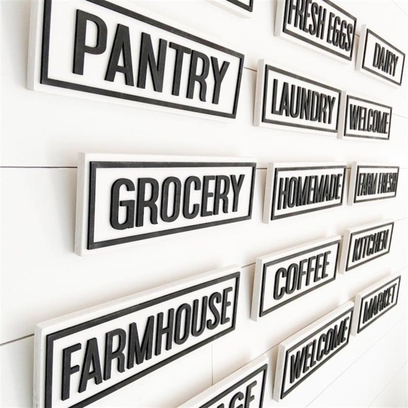 3d Farmhouse Signs Jane