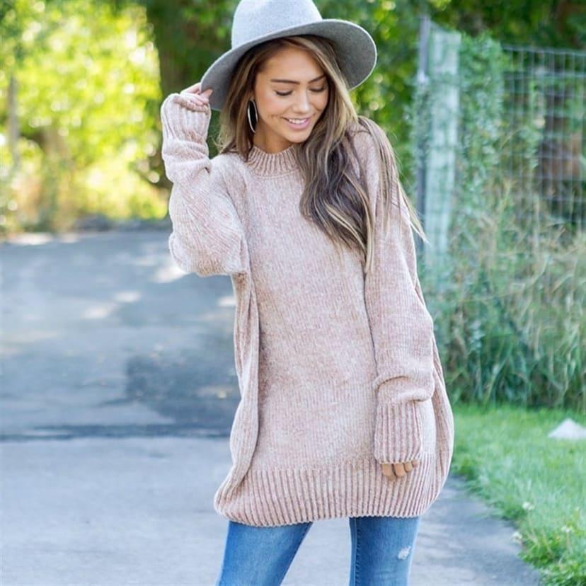 Velvet Yarn Sweater