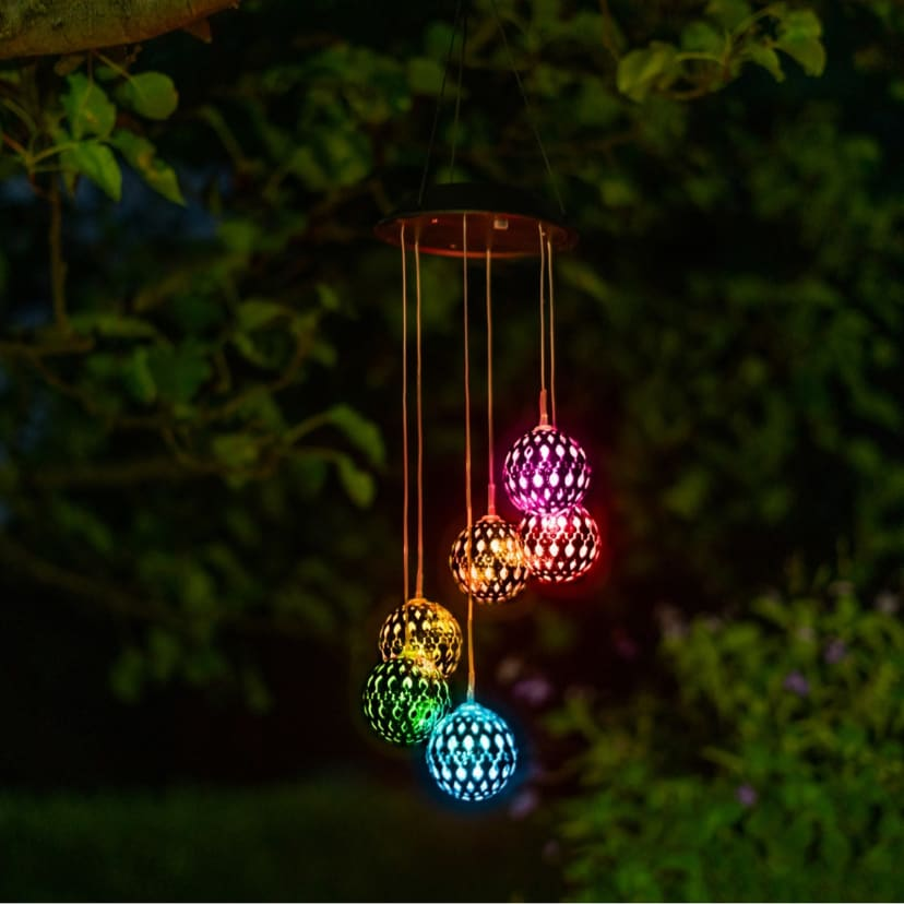 Color Changing Led Solar Wind Chime Jane