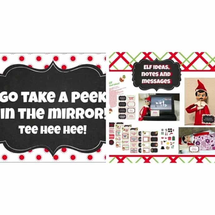Fun Christmas In July Ideas.Christmas In July Printable Elf Prank Ideas Notes Messages And Photo Booth Props