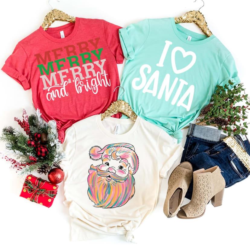 I Heart Santa Tees Youth Adult Jane