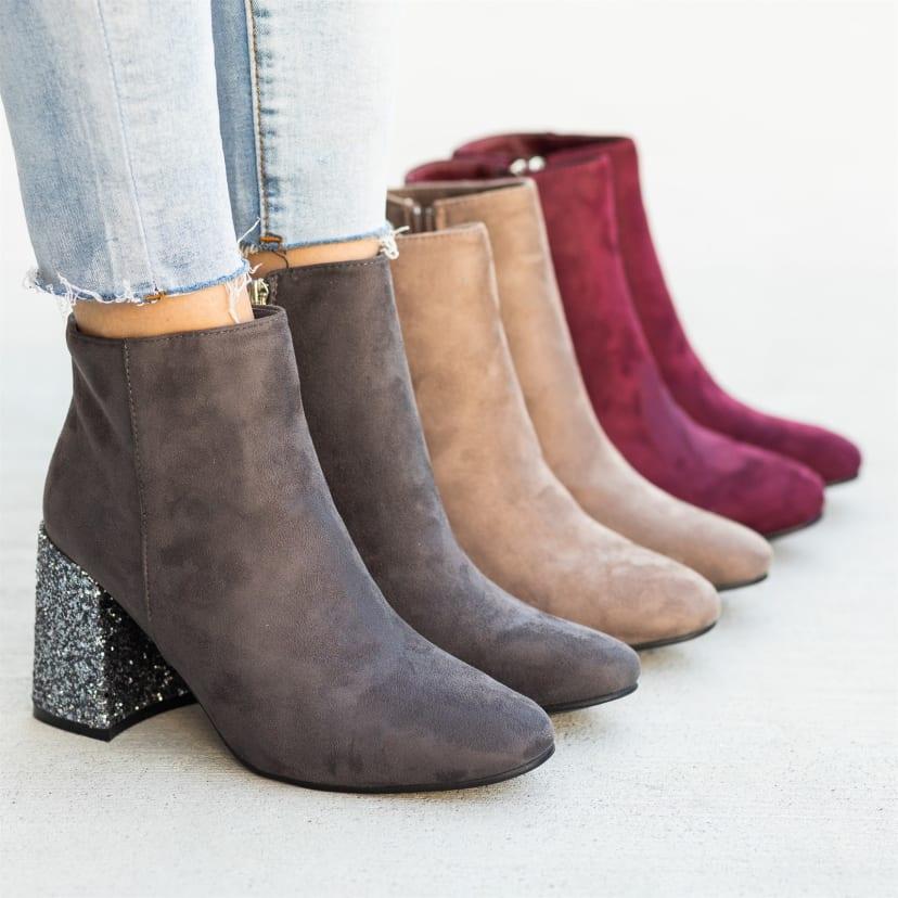 Glitter Heel Booties | Jane