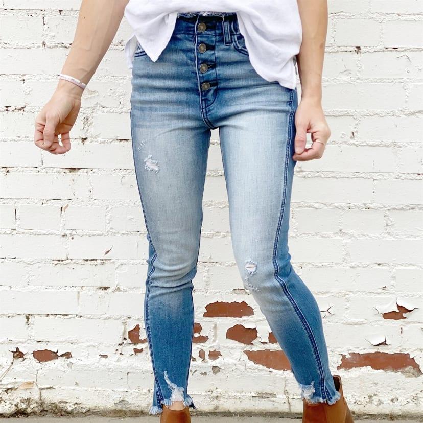 High Rise Button Kancan Jeans Jane