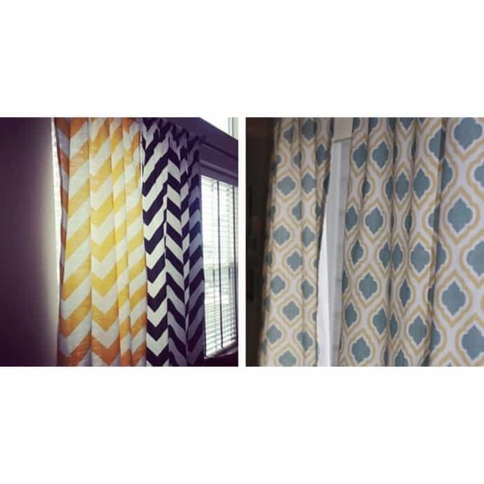 drapes Premier Prints Houndstooth Black and white 25x63 25x84 25x96 25x108 Curtain 1 Pair of 25 wide  panels