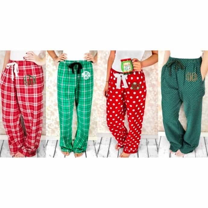 Christmas Pajama Pants.Monogrammed Christmas Pajama Pants