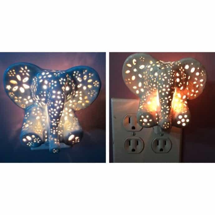 Ceramic Elephant Night Light