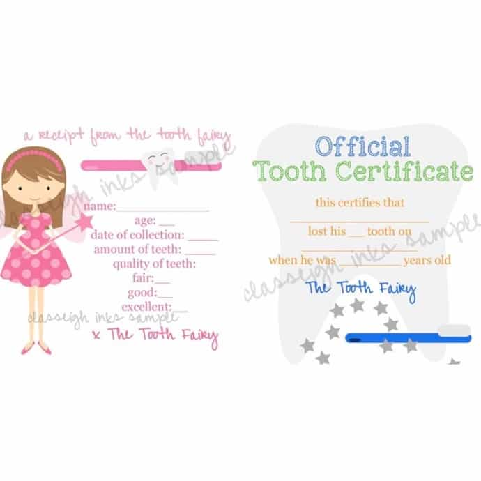 picture regarding Tooth Fairy Letter Printable identify Teeth Fairy Notes PRINTABLE Report