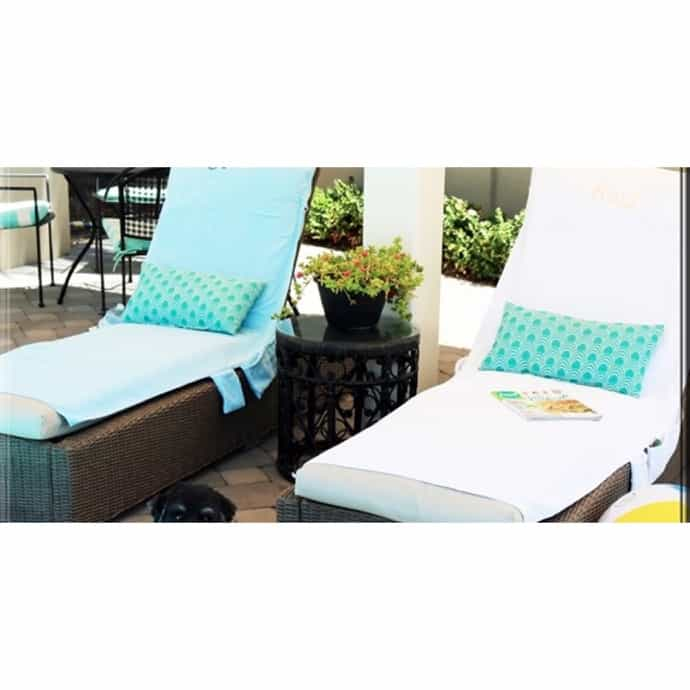 Admirable Monogrammed Lounge Chair Towel Covers With Pockets Alphanode Cool Chair Designs And Ideas Alphanodeonline