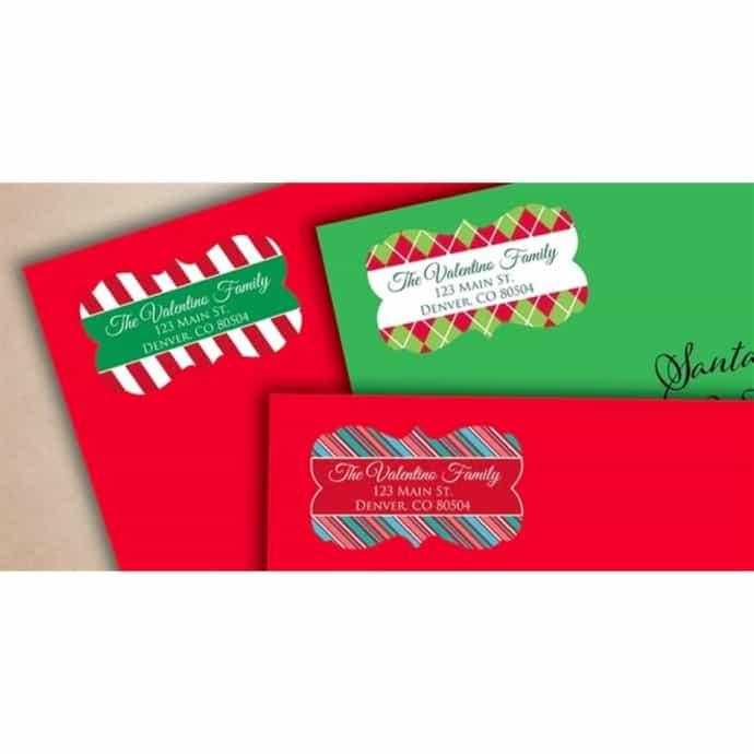 Christmas Address Labels.Christmas Address Labels Set Of 36