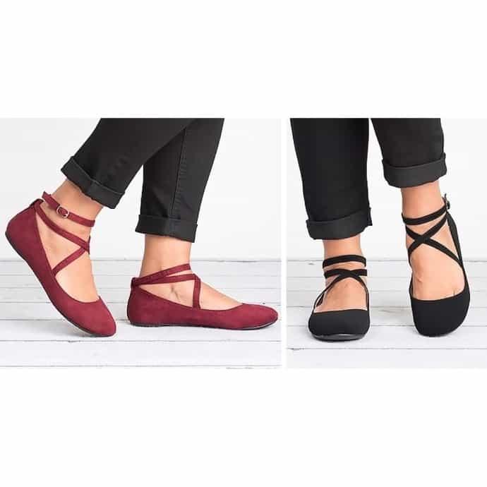 Criss Cross Ballerina Flats | Jane