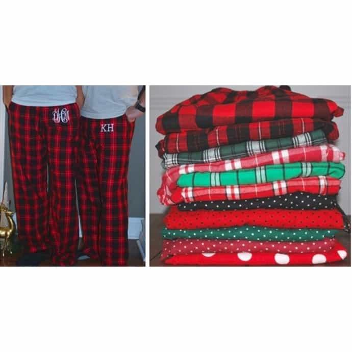 Christmas Pajama Pants.Monogrammed Christmas Pajama Pants Adult And Youth