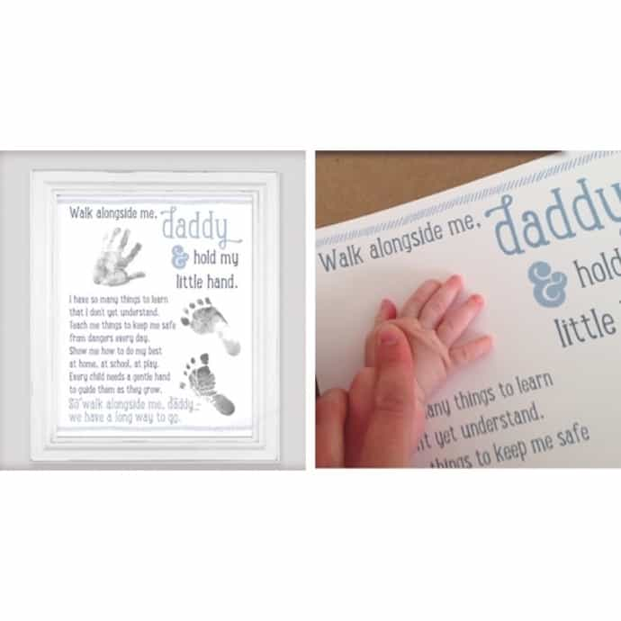photograph regarding Walk With Me Daddy Poem Printable named \