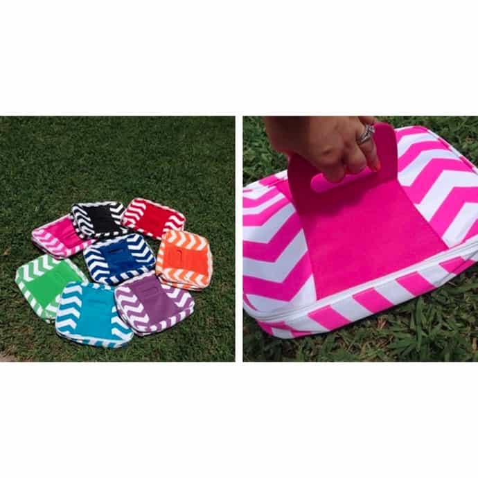Flash Sale!! Chevron Insulated Casserole Carrier! -8 Colors!!!! Lowest  Prices of the year!