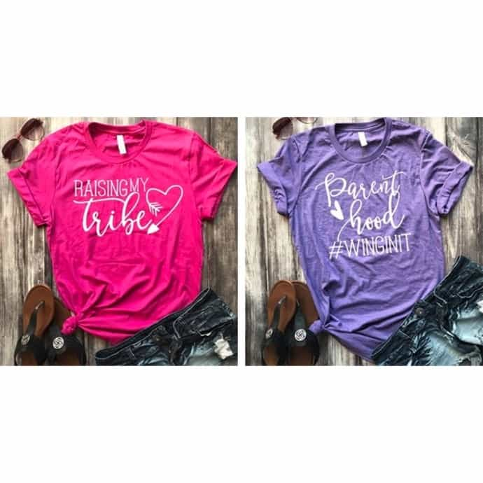 100% authenticated hottest sale detailed images Mom Life Tee Shirts