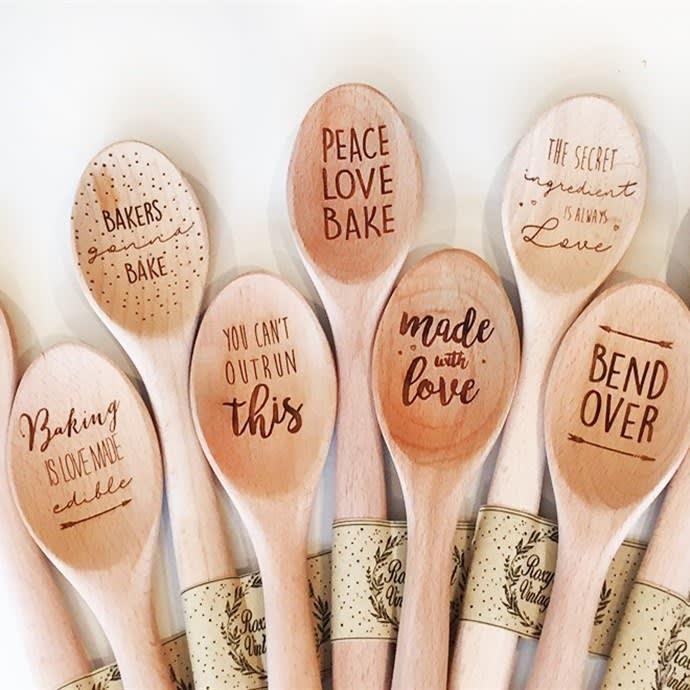 Designer 12 Wooden Spoons