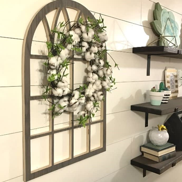 Cathedral Style Faux Window Frame