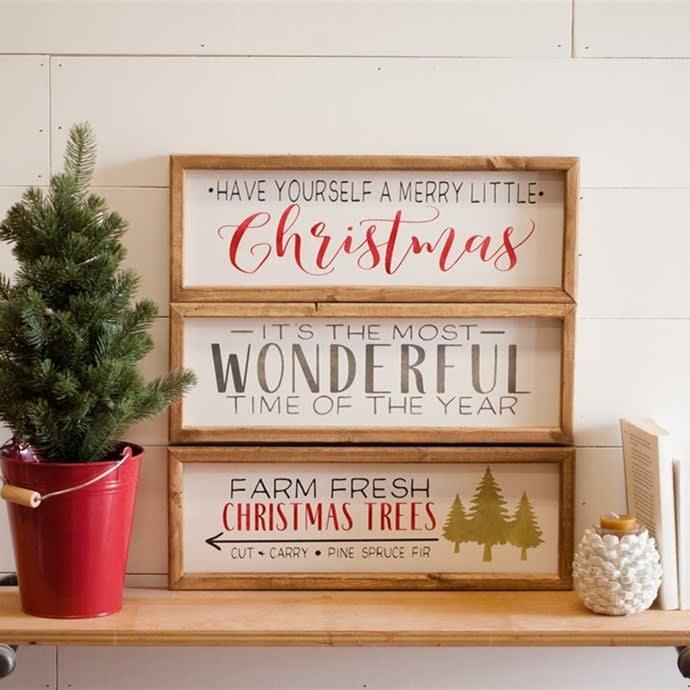 Christmas Wood Signs.Christmas Wood Signs 6x18