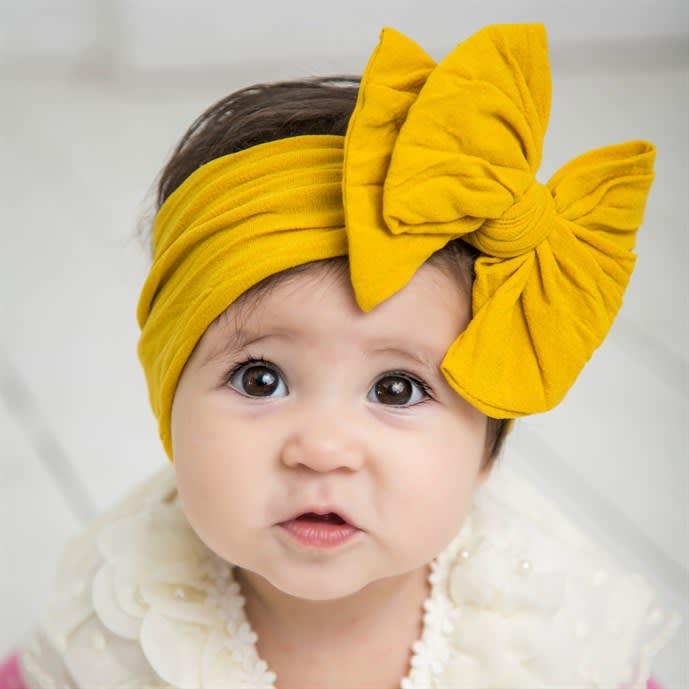 PICK 1 Nylon Headwrap Nylon Bow Headwrap Soft Headwrap Wide Headwrap One Size Fits All Headwrap Wide Nylon Headband Baby Headwrap