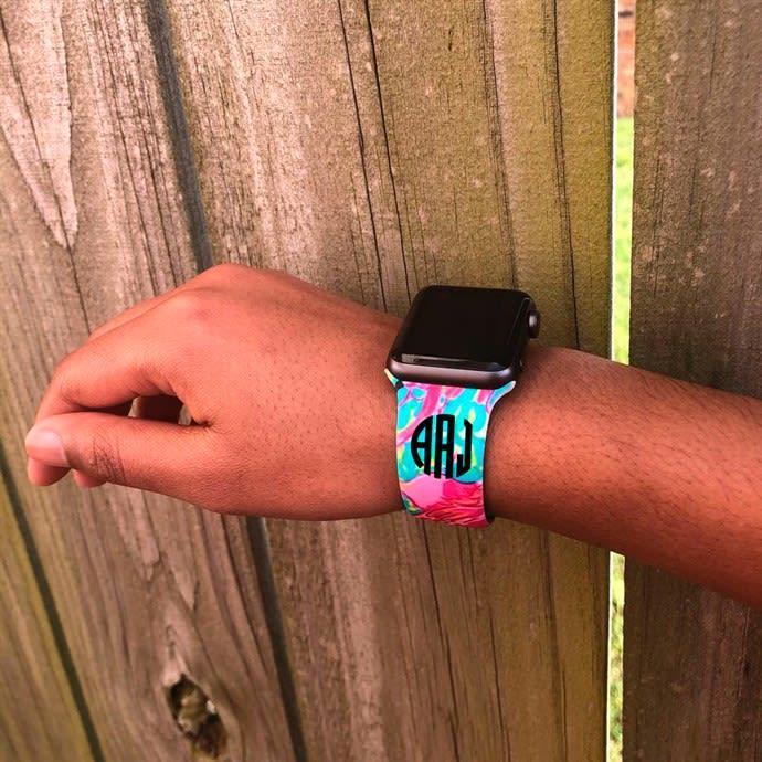 Monogram Printed Apple Watch Bands Jane