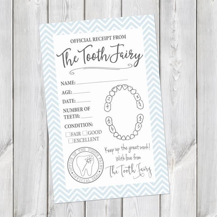 photo about Printable Tooth Fairy Receipt called Printable Enamel Fairy Receipts Electronic Down load
