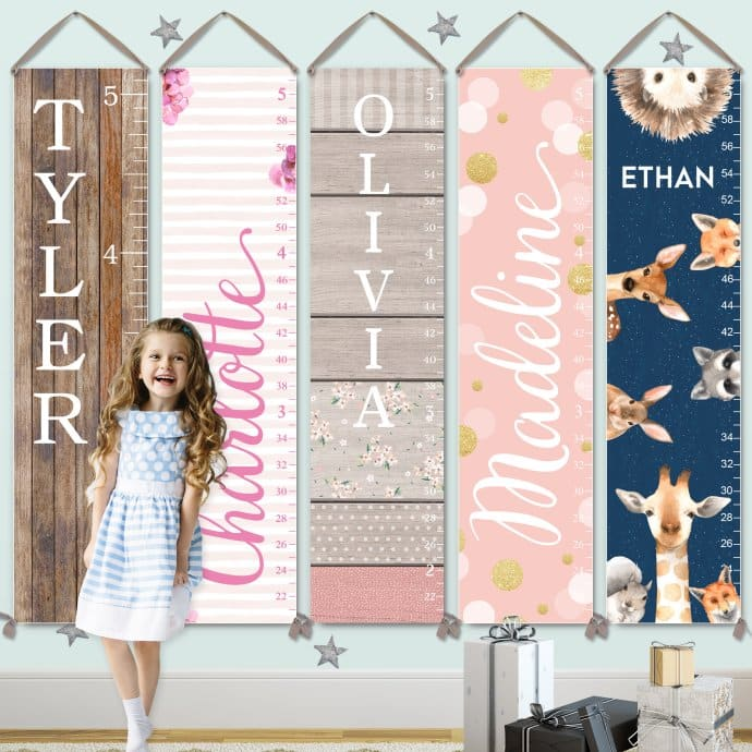 Personalized Canvas Growth Charts Jane