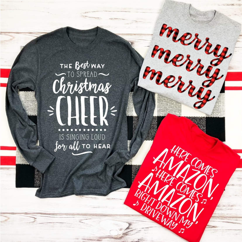 Do It Yourself Christmas Shirts.Long Sleeve Christmas Shirts
