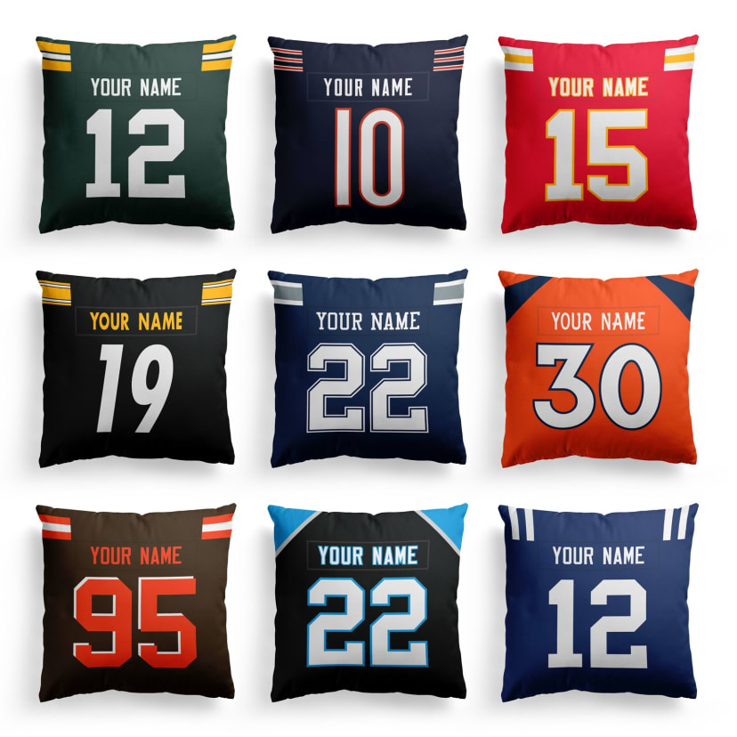 Personalized Football Pillow Covers Jane