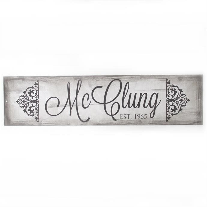Personalized Metal Name Signs