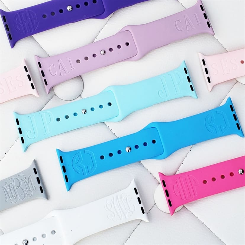 Monogram Double Sided Apple Watch Bands Jane