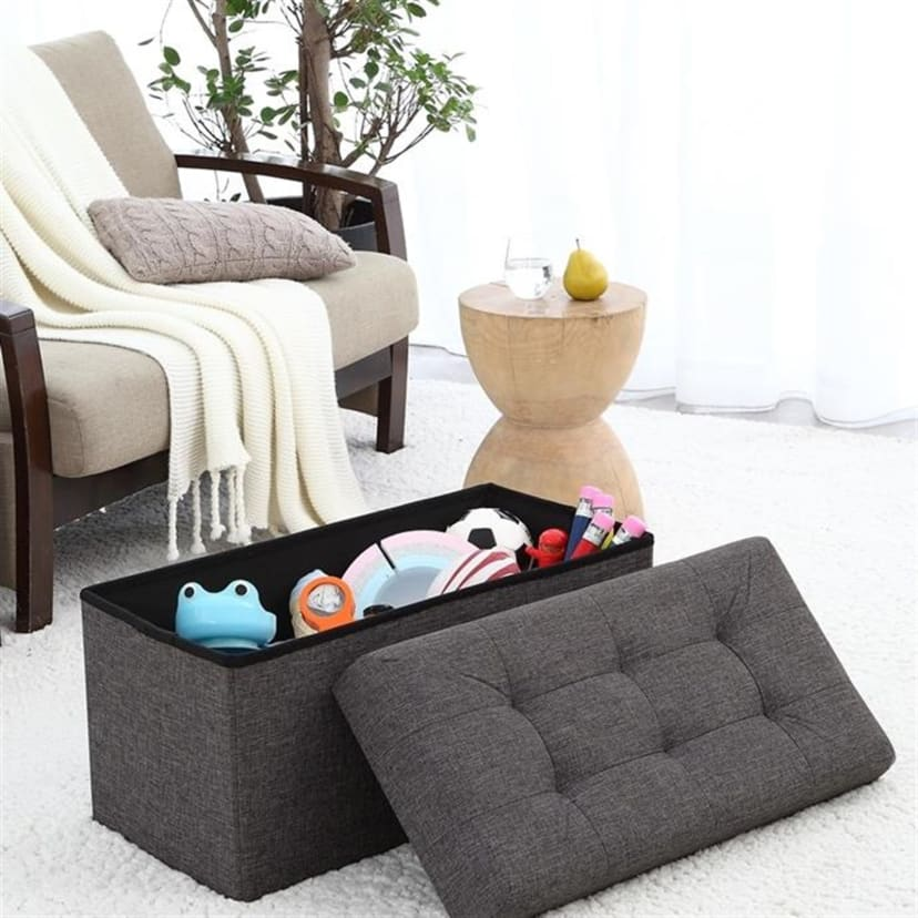 Brilliant Foldable Tufted Storage Ottoman Free Shipping Uwap Interior Chair Design Uwaporg