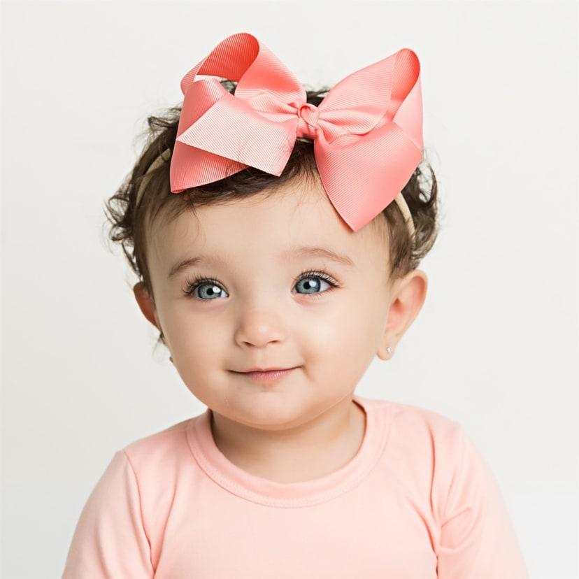 PrettyBoutique Baby Girl Cute Soft Felt Bow Thin Nylon Headband Hair Accessories