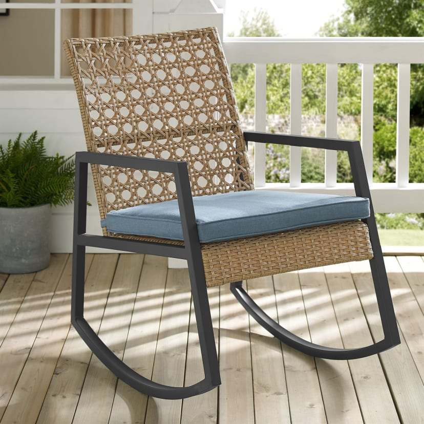 Remarkable Outdoor Patio Rattan Rocking Chair Free Shipping Ibusinesslaw Wood Chair Design Ideas Ibusinesslaworg