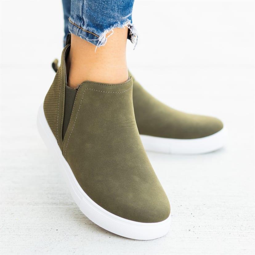 Slip-On Ankle Sneakers | Jane