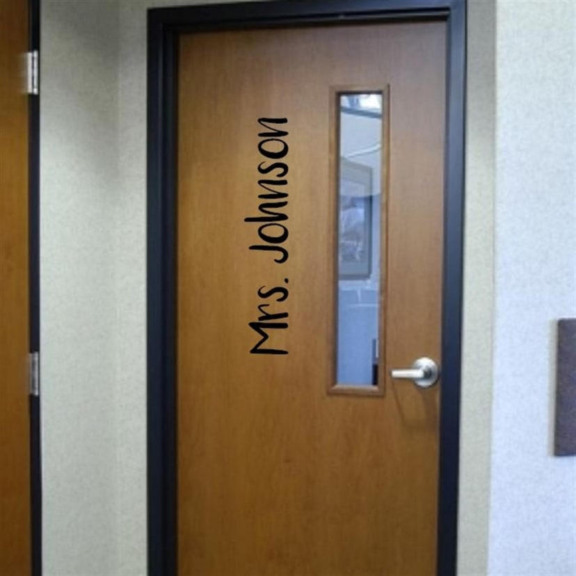 Teacher Name Door Decals