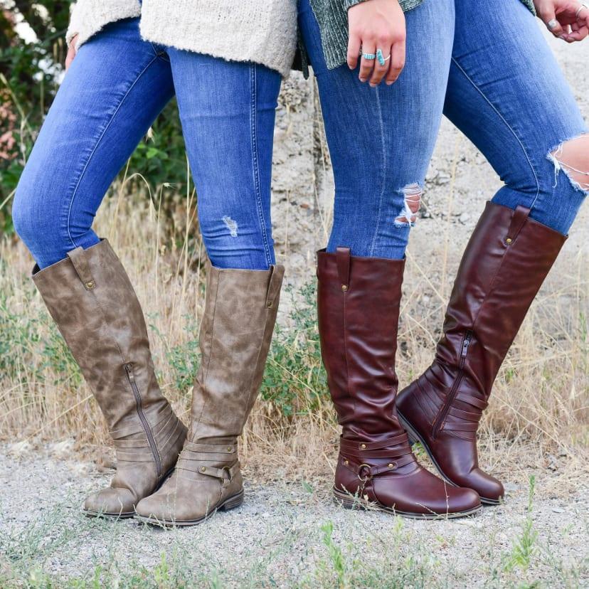 Knee-High Riding Boot   Wide Calf