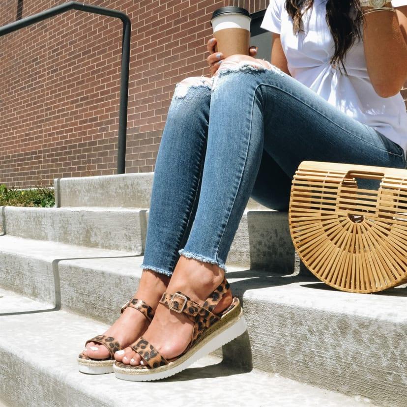 White Bottom Platform Sandal   Jane