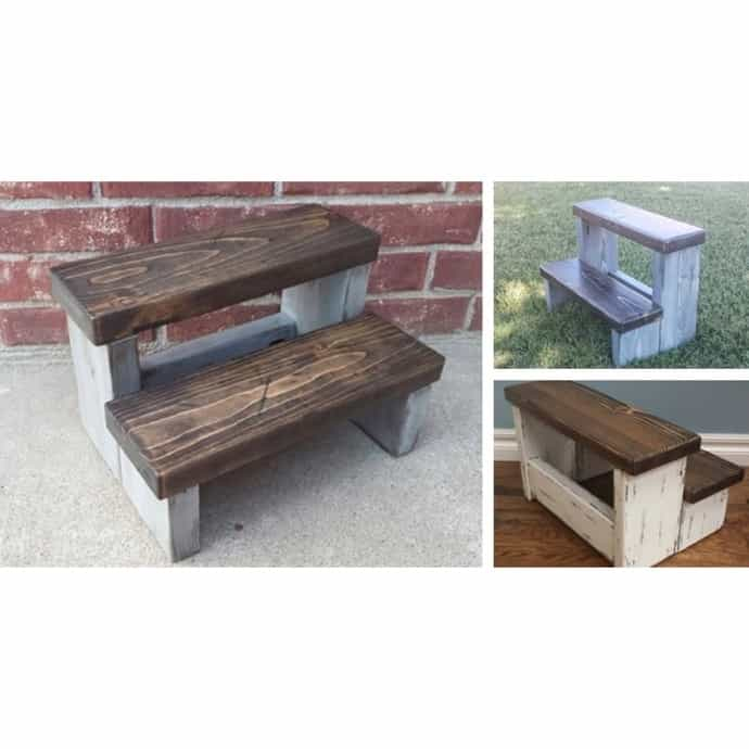 Awesome Farmhouse Step Stool Squirreltailoven Fun Painted Chair Ideas Images Squirreltailovenorg