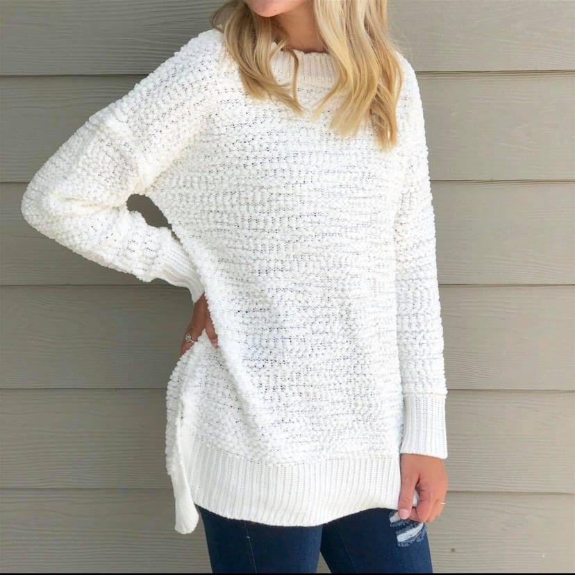 Boutique Popcorn Sweater Hi,Low