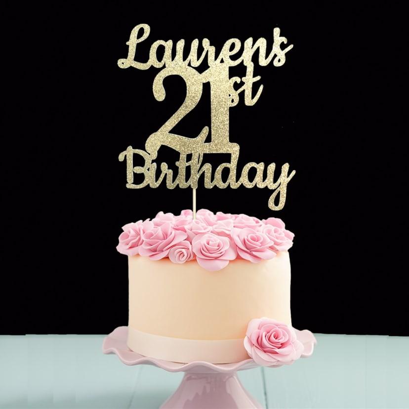 Enjoyable Custom Birthday Cake Topper Jane Personalised Birthday Cards Veneteletsinfo