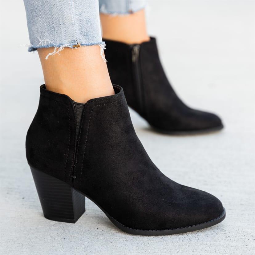 Cheap Chunky Heel Booties