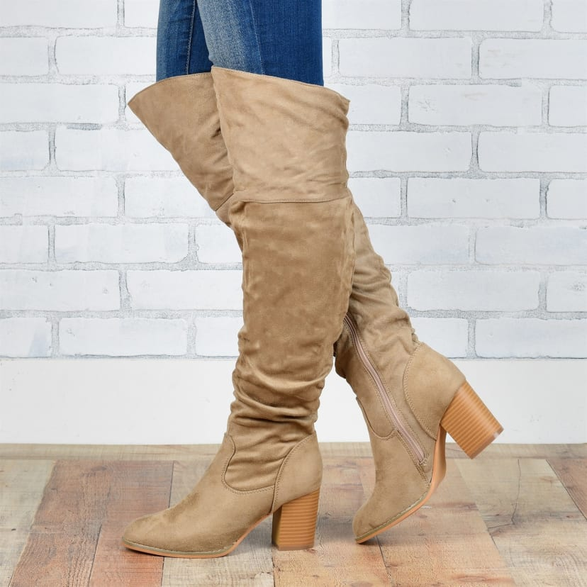 Over The Knee Wide Calf Boots